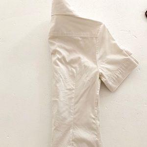 White Banana Republic Button Down Shirt Size 0P